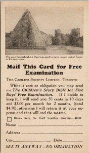 Toronto Ontario Grolier Society Ltd Advertising Postcard G80