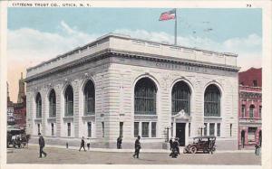 New York Utica Citizens Trust Company Bank 1924