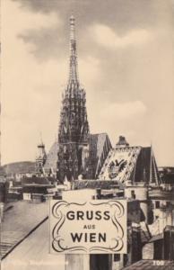 Austria Gruss Aus Wien Stephanskirche Real Photo