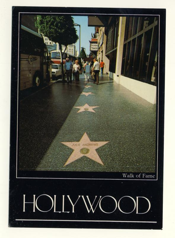 Hollywood/Los Angeles, California/CA Postcard, Walk Of Fame, Near Mint!