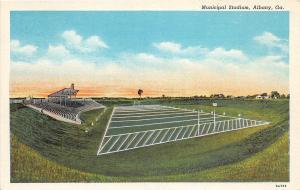 D99/ Sports Stadium Postcard Football Albany Georgia Municipal Stadium