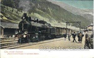 The Orient Express in Salzburg Station, Train Locomotive  Steam Engine Unused...
