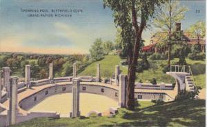 Michigan Grand Rapids Blythfield Club Swimming Pool 1948
