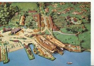 Hampshire Postcard - Model of Buckler's Hard - Beaulieu River - Ref 20865A