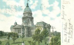 The Capitol, Springfield Illinois 1907 used Postcard