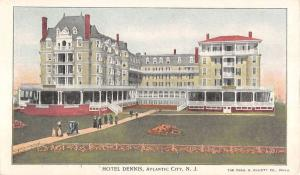 Atlantic City New Jersey Hotel Dennis Street View Antique Postcard K32020