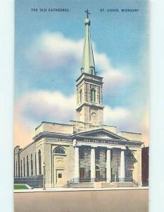 Unused Linen CHURCH SCENE St. Saint Louis Missouri MO p4668