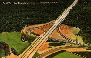 Pennsylvania Turnpike Aerial View Blue Mountain Interchange