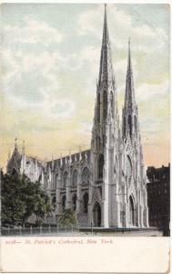 St. Patrick's Cathedral, New York, early 1900s unused Postcard