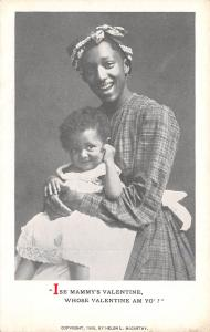 Black Americana~Lil Girl on Lady's Lap~Ise Mammy's Valentine~Whose am Yo? 1908