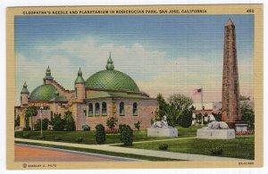 San Jose, California, Cleopatra's Needle and Planetarium In Rosicrucian Park