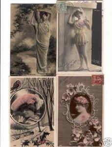 DE VERE. E. THEATRE 20 Cartes Postales 1900-1920.
