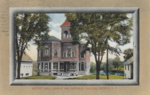 ENFIELD, New Hampshire, 1900-10s; Whitney Hall Library and Memorial Building