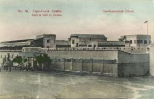 ghana, Gold Coast, CAPE COAST, Castle, Government Offices (1910s) Postcard