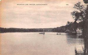 Mountain Lake Groton, Massachusetts Postcard