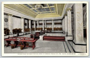 Kansas City MO~Waste Baskets~Marble Columns~SW Nat'l Bank of Commerce~1920s