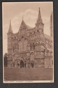 Salisbury Cathedral West Front View - Unused