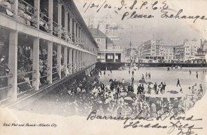 ATLANTIC CITY, New Jersey, PU-1906; Steel Pier And Beach