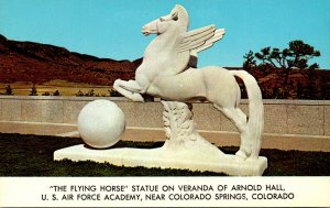 Colorado United States Air Force Academy The Flying Horse Statue On Veranda O...