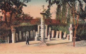 France Jardin D'Orleans Ruines et Buste du Duc D'Orleans