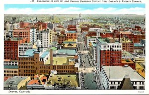 Colorado Denver Panorama Of 16th Street & Business District From Daniels & Fi...