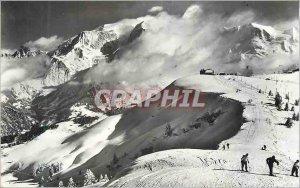 Modern Postcard 1298 Storm over Mont Blanc Ski