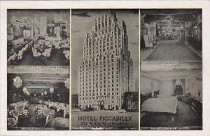 New York City Hotel Piccadilly Circus Bar Lobby Georgian Room & Twinbedded Room