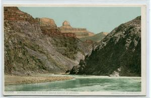 Zoroaster from River Grand Canyon National Park Arizona 1910s Phostint postcard