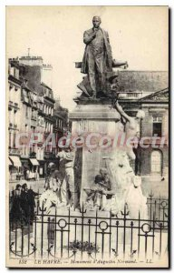 Old Postcard Le Havre D'Augustin Normand Monument