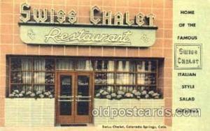 Swiss Chalet, Colorado Springs, Colorado USA Postcard Post Card Swiss Chalet ...