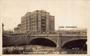 RENO, NEVADA RIVERSIDE HOTEL-1931 RPPC REAL PHOTO POSTCARD
