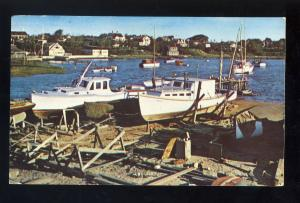 Harwichport, Massachusetts/MA Postcard, Boat Yard, Wychemere Harbor, Cape Cod