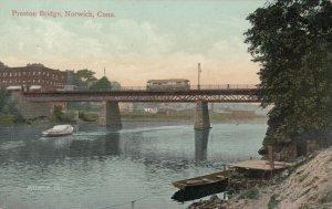 NORWICH , Connecticut , 1900-10s ; Preston Bridge