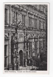 Germany Schloss Heidelberg Otto Heinrichsbau Castle Facade Vtg Postcard