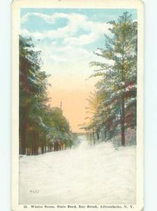 Winter Scene On State Road In Ray Brook Adirondack Mountains New York NY n1467