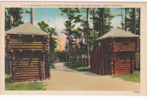 North Carolina Roanoke Island Entrance To Fort Raleigh Reservation