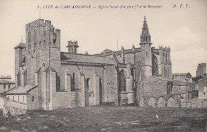 CARCASSONNE, France, 1910-1920s, Cite de Carcassonne - Eglise Saint-Nazaire