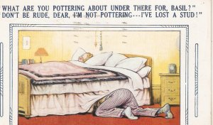 .What are you pottering about  under.. Bamforth Comic Series postcard No. 2687
