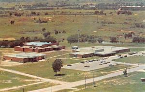 Seminole Oklahoma Junior College Birdseye View Vintage Postcard K58564