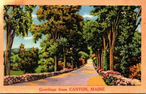 Maine Greetings From Canton