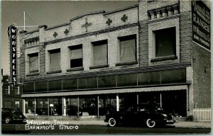 1940s WALLACE, Idaho RPPC Real Photo Postcard WORSTELLS STORE Street View Unused