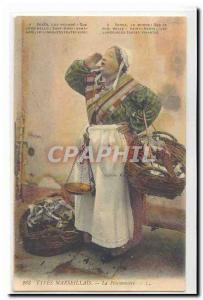 Types Marseillais Old Postcard the fishmonger TOP