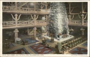 Yellowstone Old Faithful Inn Detroit Publishing 8810 c1910 Postcard EXC COND