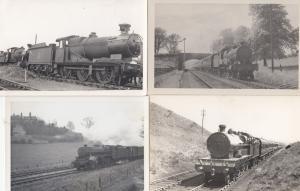 LMS Class 4-4-0 4-6-0 Seaforth Highlander 4x Train Postcard Photo s