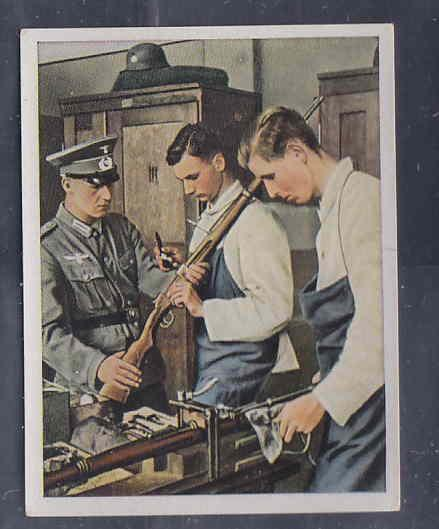 GERMANY TOBACCO CARD WWI 6x5 cms. MILITAR ARMERY AAD5154