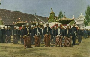 indonesia, JAVA SURAKARTA SOLO, Court Officers of the Soenan (1910s) Postcard