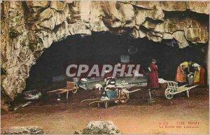 Old Postcard Royat cave of Washing Machine Lavandieres