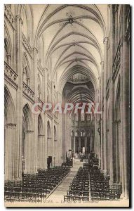 Old Postcard Coutances The Nave of the cathedral