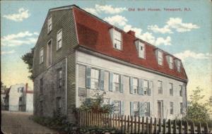 Newport RI Old Bull House c1910 Postcard