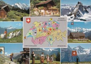 Map Of Switzerland and Multi Views